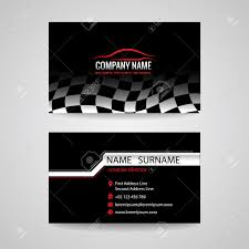 Car Name Card Design Business Card For Transportation Car Racing Sport And Car Wash
