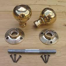 antique reproduction solid brass door knobs