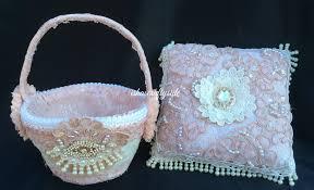 wedding baskets wedding ring cushion flower girl s basket diy wedding series