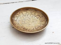 antique dish ring holder images Vtg small brass bowl ring holder dish ashtray small collectible jpg