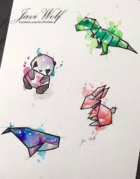 best 25 origami tattoo ideas on pinterest geometric origami