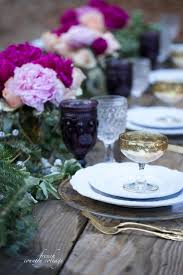 Romantic Table Settings Romantic Holiday Table Setting French Country Cottage