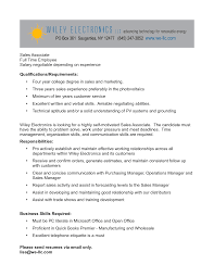 resume sles skills bunch ideas of dillards sales associate cover letter about