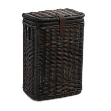 wicker kitchen waste basket with metal liner the basket lady