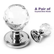 glass crystal door knobs btsky tm a pair of 65mm clear extra large crystal glass door knob