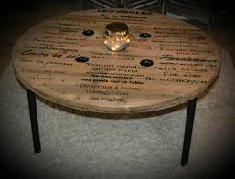 touret bois deco la table de salon les règles de la maison danslamaisondelo