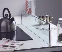 protection anti projection îlot en verre cuisines laurent