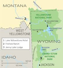 Map Of Yellowstone National Park Yellowstone Where To Stay