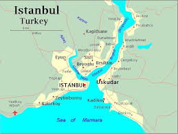 istanbul turkey map istanbul embraces two continents