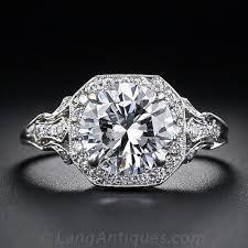 edwardian style engagement rings 2 17 carat d colorless edwardian style engagement ring