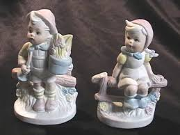 Midwest Home Decor Vintage Country Kids Bisque Ceramic Figurines Farm Home Decor