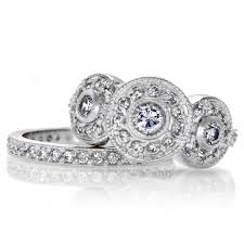 vintage wedding ring sets darla s vintage wedding ring set