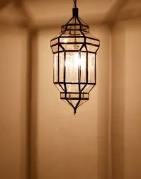 Moroccan Pendant Lights Moroccan Hanging Lantern With Clear Glass For The Entrance