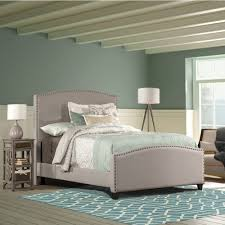 kerstein fabric upholstered bed in dove gray humble abode