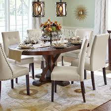 mason ivory dining chair with espresso wood pier 1 imports