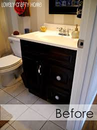 furniture charming black wooden bathroom cabinet using minwax gel