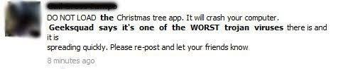 christmas tree app virus hoax hoax slayer