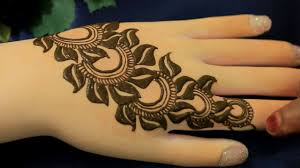 2017 leafy flower henna mehndi designs for easy unique