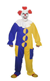 Pennywise Halloween Costume Adults Unisex Blue U0026 Yellow Clown Costume Scary Pennywise Fancy