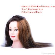 2017 18inch 100 human training head hairdressing