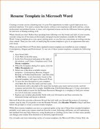 Resume Examples Internship Microsoft Word 2007 Resume Templates Resume For Your Job Application