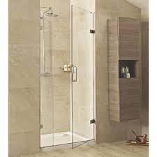 Shower Hinged Door 8mm Hinged Door With One In Line Panel Stonewood
