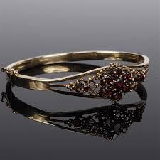 garnet bangle bracelet images Antique victorian 14k yellow gold garnet hinged bangle bracelet jpg