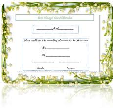 marriage certificate template updated microsoft word templates