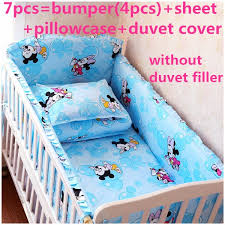 Mickey Mouse Crib Bedding Sets Discount 6 7pcs Baby Bedding Set Baby Cot Crib Bedding