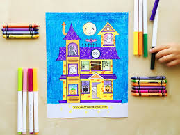 a ghost hunt halloween painting with free printable creating