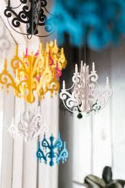 small chandelier with jewels elegant black home u0026 party