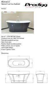 Cast Iron Bathtub Weight Monaco 170cm Slipper Bathtub Enamel Cast Iron