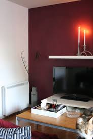 the interior diyer feature this a second burgundy wall