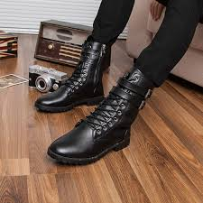 men s tall motorcycle riding boots new men s leather motorcycle boots british fashion man martin boots