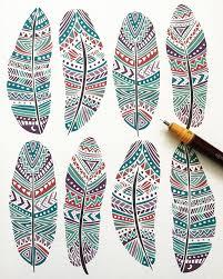 tribal aztec ethnic geometric patterns pom graphic design