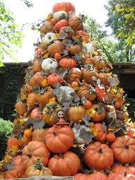 orange halloween tree decorations lighted pumpkin inspired woven tree root make