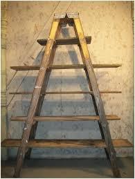 home design ladder shelf diy step shelving unit wooden regarding