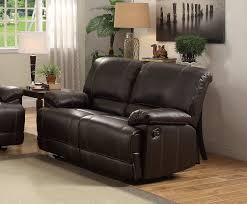 homelegance cassville double reclining love seat dark brown 8403