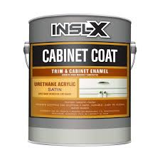 how to get polyurethane cabinets insl x cc550109a 01 cabinet coat enamel satin sheen paint 1 gallon white