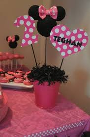 party centerpieces for tables minnie mouse party decor birthday capture ideas