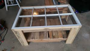 wood pallet old window u003d coffee table youtube
