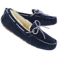 ugg womens amely shoes black ugg australia s dakota indigo sheepskin lining moccasins