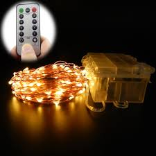 remote control battery lights 10m 6m 100 60 leds remote control 8 modes battery operated