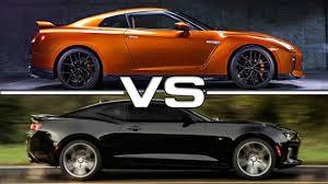 2014 camaro ss vs 2014 mustang gt 2017 nissan gt r vs 2016 chevrolet camaro ss