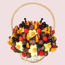 fruit gift fruity gift fruit basket chocolate edible