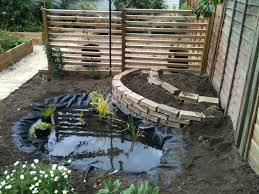 mini garden that created using small backyard concept which is