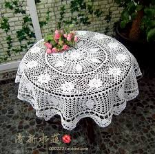 beautiful table cloth design free shipping french beautiful design crochet circle table