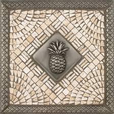 metal pineapple mosaic tile backsplash medallion 12 inches