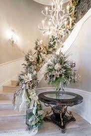 silver gold christmas foyer decor
