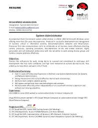 resume format for administration systems administrator resume u2013 inssite